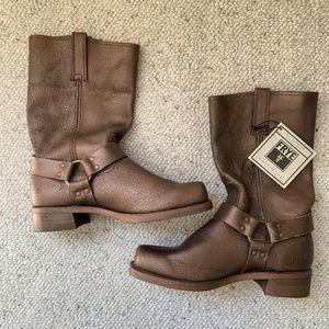 Mens Frye Metallic Leather Harness 12R Boots Sz 12